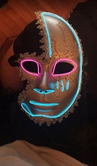 Light Up neon mask