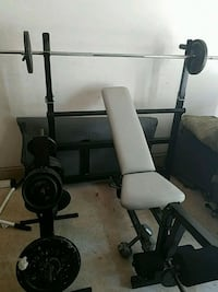 black and gray bench press MD CITY, 20724