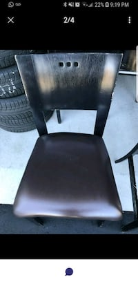 black leather padded rolling chair 525 km
