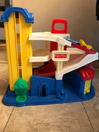 Fisher-price garage with two car