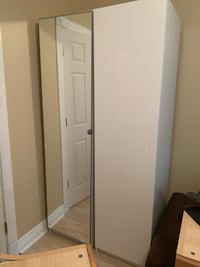 Ikea PAX wardrobe units - two white units with doors.  Baltimore, 21201