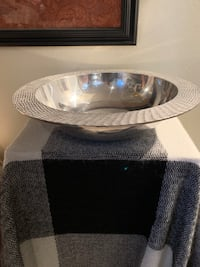Silver metal bowl made in India