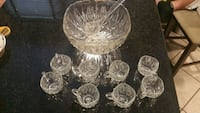clear cut glass punch bowl set Deptford Township, 08096