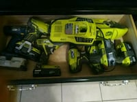 Ryobi 3 hammer drills to regular drill and a tools Baton Rouge, 70810