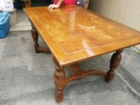rectangular brown wooden coffee table Toronto, M6E 4W7