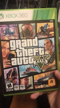 Grand Theft Auto Five Xbox 360 game case