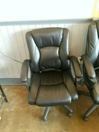 two black leather sofa chairs Longmont, 80504