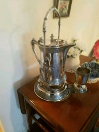 Antique silver tilting urn with cup Baltimore, 21209