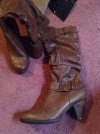pair of brown leather boots Gatineau, J9H 5B9