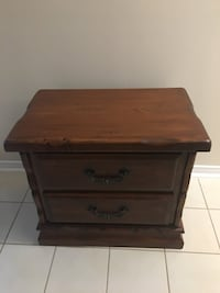 brown wooden 2-drawer nightstand Mississauga, L5L 5L2