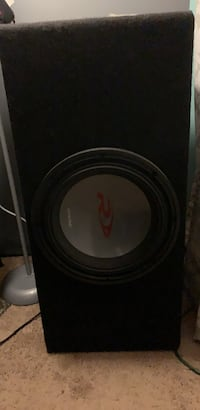12 inch alpine type R subwoofer had it for about 2 months used it for 2weeks and it's been in the house every since come with wires and line out converter asking 180 obo 148 mi