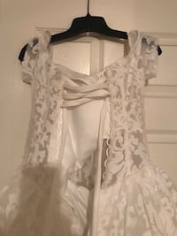 white floral lace sleeveless dress 2386 mi