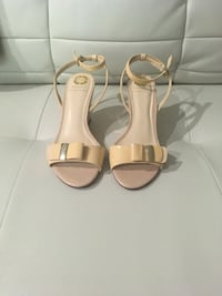Nude ankle strap, wedge sandals Greensboro, 27410