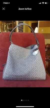 women's white and brown leopard print tote bag Gaithersburg, 20879