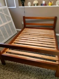 Double bed frame and mattress set