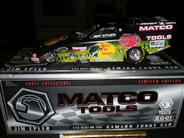 2001 MATCO TOOLS DIE CAST FUNNY CAR NEW IN BOX COA