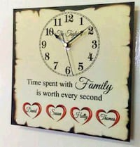 Personalised family clock  Greater London, IG11 9JU