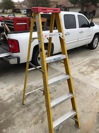 Yellow 6 foot fiberglass ladder Fontana, 92336