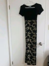 black maxi dress with floral patterns Vancouver, V5S 2N8