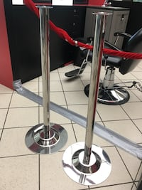 two black and red kick scooters