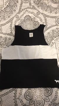 black and white sleeveless top Lincoln, L0R