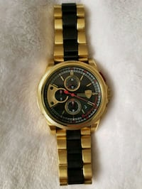 round gold-colored Rolex chronograph watch with link bracelet Deerfield Beach, 33441