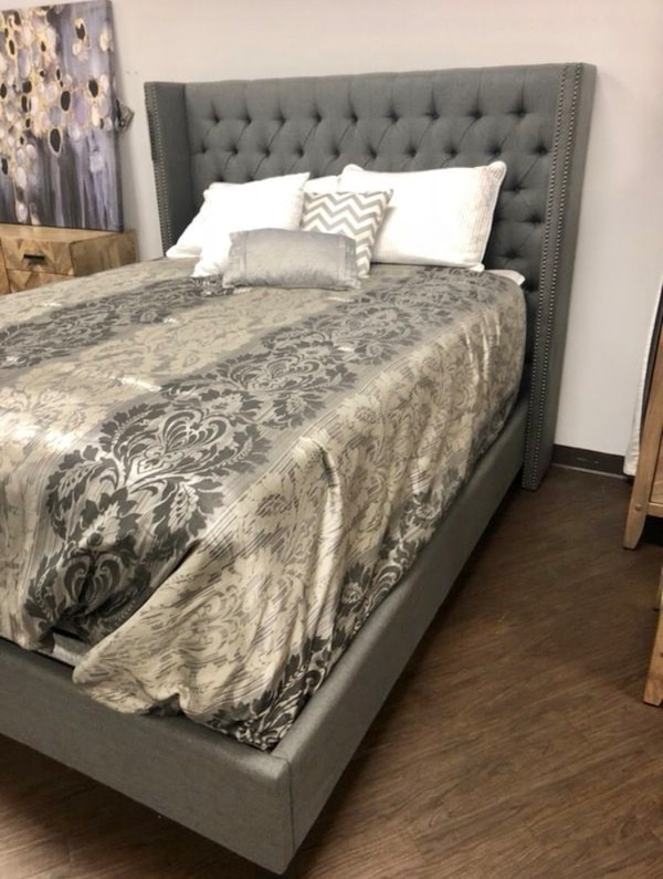 New Twin Full Queen King Cal King Gray Bed Frame Mattress