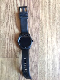Lg watch R with black leather strap Carson, 90745