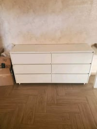White 6 drawers chest
