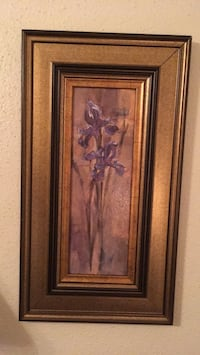 brown wooden framed painting of flowers Houston, 77083
