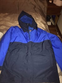 blue and black zip-up hoodie Washington, 20024