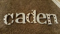 Letters for the name Caden for child's room