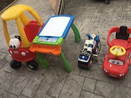 Toys, cars and table