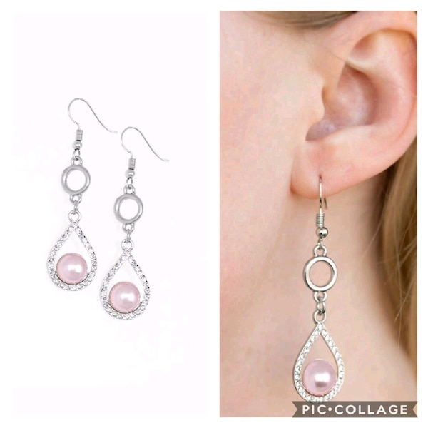 Roll out the Ritz pink earrings