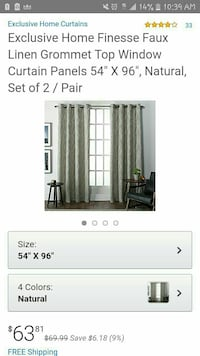 Exclusive HOME CURTAIN BRAND NEW Santa Cruz, 95062