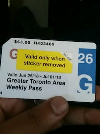 $ 25 gift card with receipt Toronto, M5A 0A7