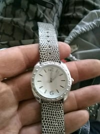 round silver-colored analog watch with link bracelet Seattle, 98125