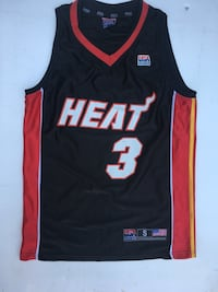 Nero e rosso Miami Heat 3 Dwayne Wade top in jersey San Felice a Cancello, 81027