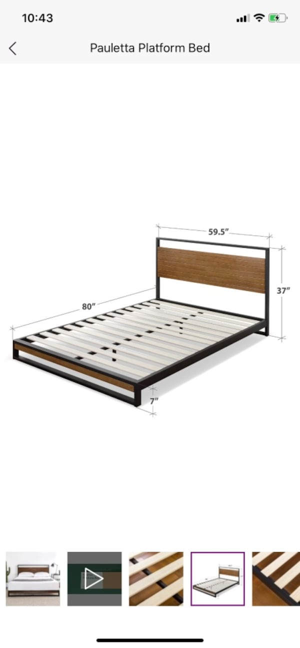 Queen bed and mattress 3