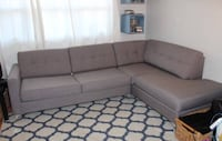 EUC sectional sofa with pull out Toronto, M8Z