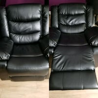 black leather recliner sofa chair Olney, 20832