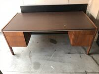 Solid wood office desk with Box/Lockable Drawer! Toronto