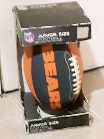 Chicago Bears junior size football in the box