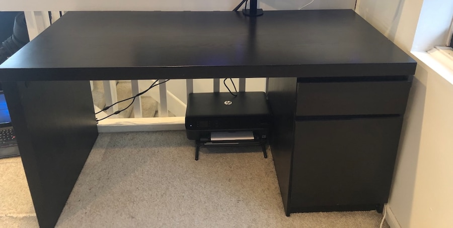 Used IKEA MALM Desk And Cabinet For Sale In Chicago   Letgo
