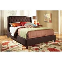 Queen Brown Fabric Bed Frame New Lake Forest