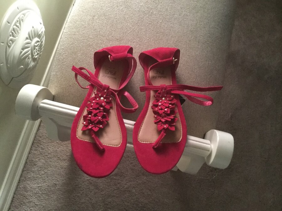 pair of red-and-white sandals for sale  Plantation