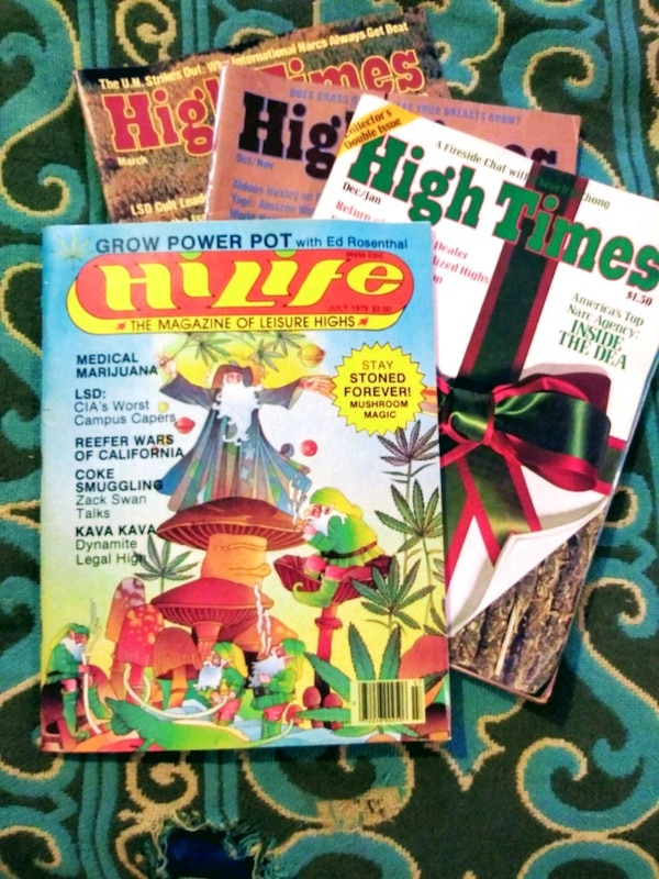 Vintage time life and high times magazine