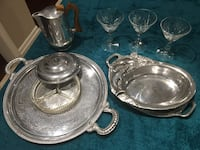 Silver dishes  excellent condition made in England beautiful design  Brampton, L7A