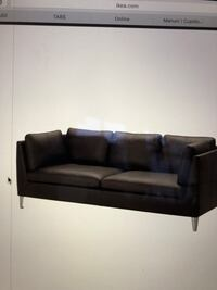 sort stoff 3-seter sofa 6240 km
