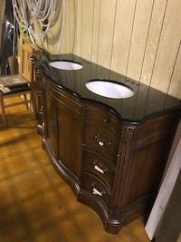brown wooden dresser with mirror Abbotsford, V2S 4A1